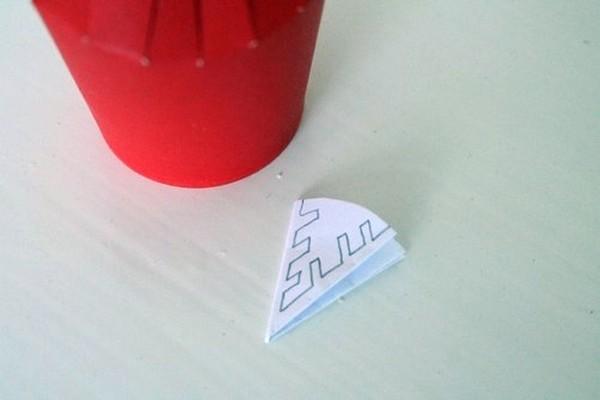 Paper made into cone