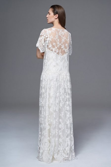 Back of Stella Lace Wedding Dress from the Halfpenny London Wild Love 2017 Bridal Collection