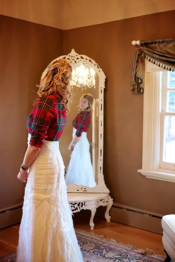 Tartan Bridal Bolero Jacket