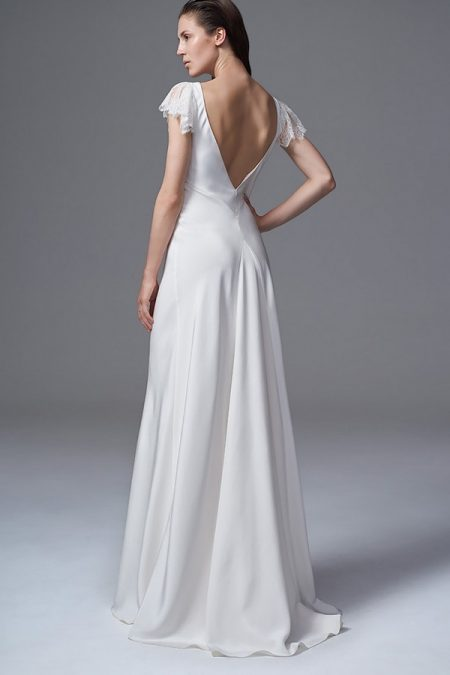 Back of Vera Wedding Dress with Frill Sleeves from the Halfpenny London Wild Love 2017 Bridal Collection