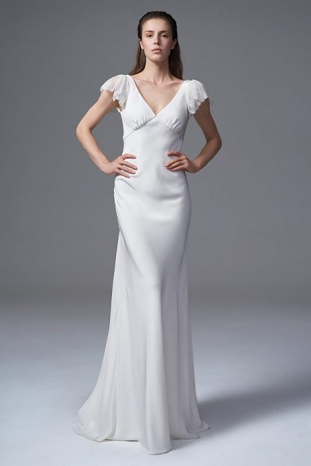Vera Wedding Dress with Frill Sleeves from the Halfpenny London Wild Love 2017 Bridal Collection