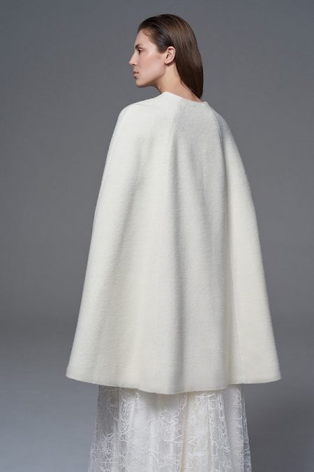 Back of Wool Cape from the Halfpenny London Wild Love 2017 Bridal Collection