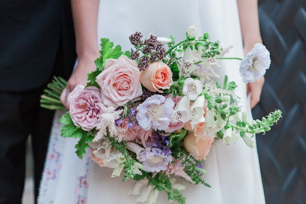 Bride's pastel wedding bouquet