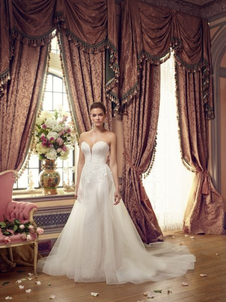 2152 wedding dress with overskirt from the Mikaella Autumn/Winter 2017 Bridal Collection