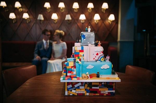 Lego Movie wedding cake