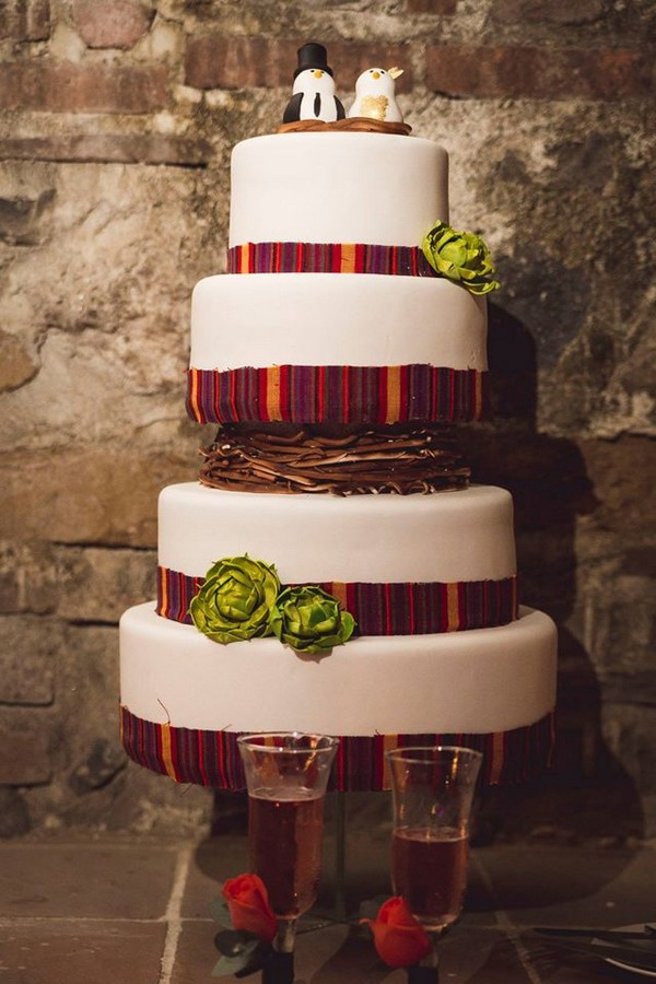 Large tiered wedding cake