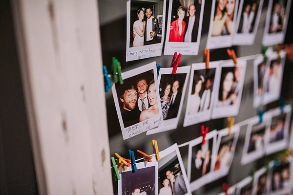 Polaroids of wedding guests