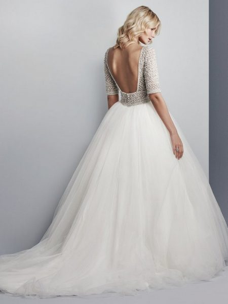 Back of Allen Wedding Dress from the Sottero and Midgley Grayson 2017 Bridal Collection