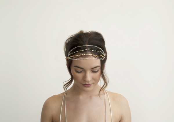 Aphrodite Gold and Silver Bridal Headband by Gillian Million and Amanda Wakeley
