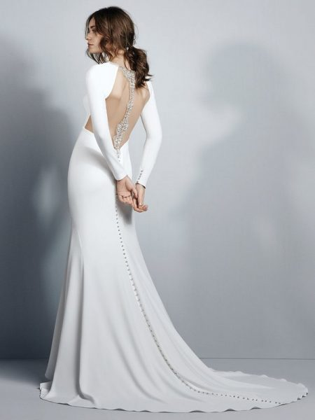 Back of Arleigh Wedding Dress from the Sottero and Midgley Grayson 2017 Bridal Collection