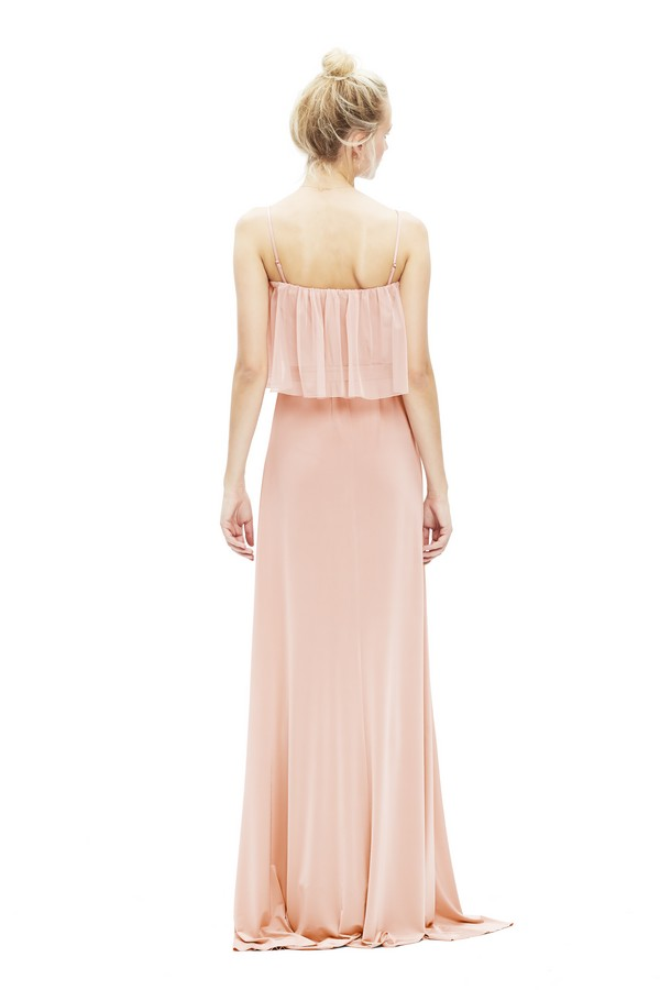 Back of Maya Tulle Dress in Blush from Twobirds Bridesmaid Party Collection