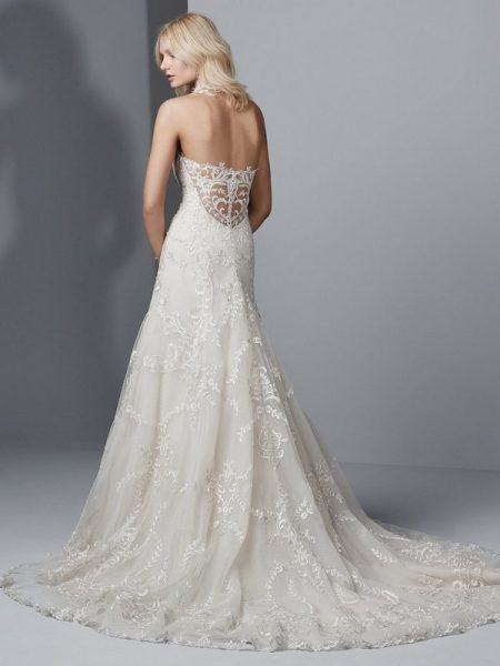 Back of Bennett Wedding Dress from the Sottero and Midgley Grayson 2017 Bridal Collection