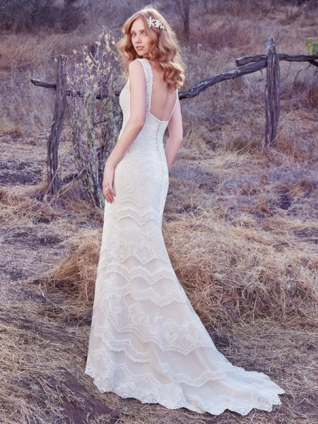 Back of Brynn Wedding Dress from the Maggie Sottero Cordelia 2017 Bridal Collection
