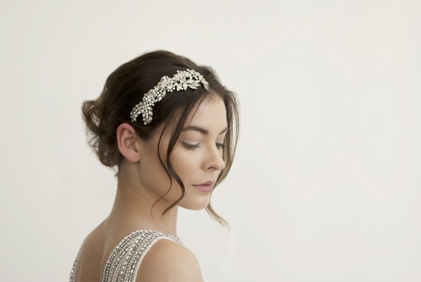 Camellia Labrinth Bridal Headband by Gillian Million and Amanda Wakeley