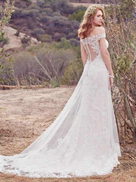 Back of Daisy Wedding Dress from the Maggie Sottero Cordelia 2017 Bridal Collection