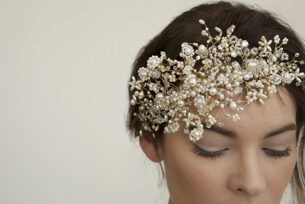 Daisy Labrinth Bridal Headband by Gillian Million and Amanda Wakeley