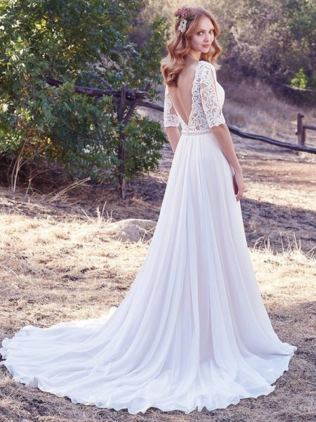 Back of Darcy Wedding Dress from the Maggie Sottero Cordelia 2017 Bridal Collection