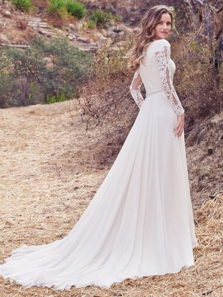 Back of Darcy Marie Wedding Dress from the Maggie Sottero Cordelia 2017 Bridal Collection