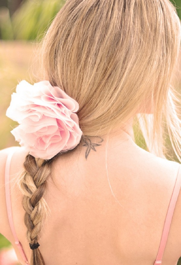 English Braid Hairstyle from Back