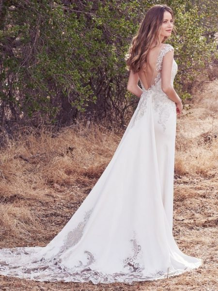 Back of Estelle Wedding Dress from the Maggie Sottero Cordelia 2017 Bridal Collection