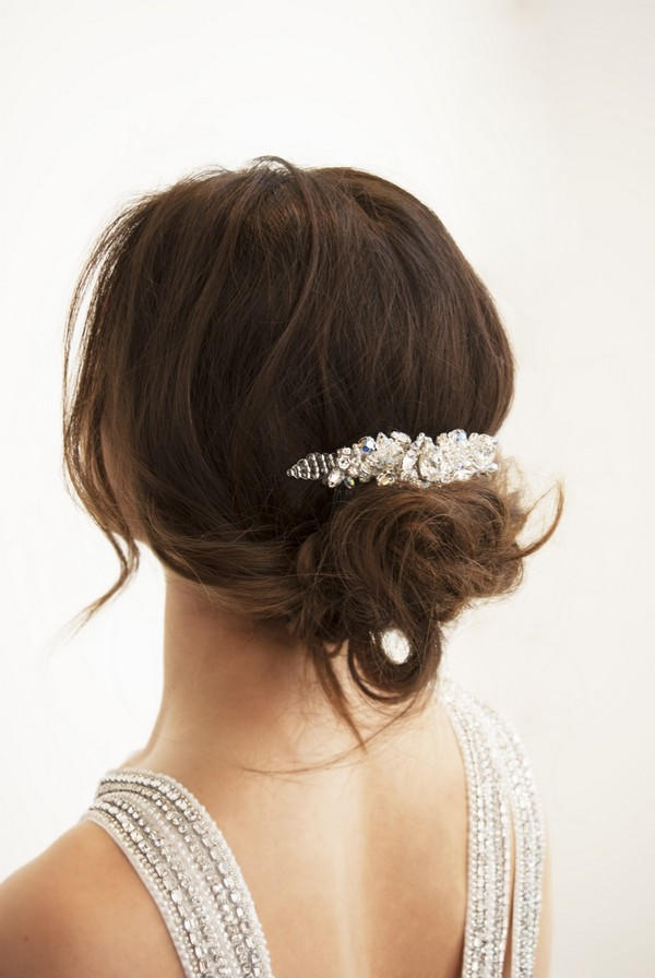 Garrett Crystal Bridal Hair Comb by Gillian Million and Amanda Wakeley