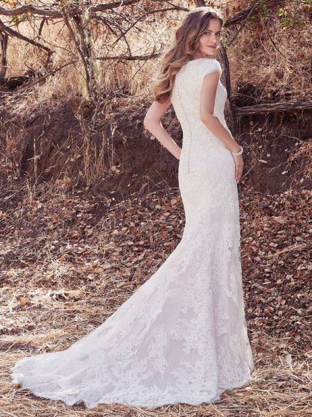 Back of Hudson Lynette Wedding Dress from the Maggie Sottero Cordelia 2017 Bridal Collection