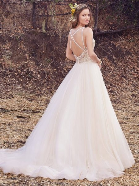 Back of Janessa Wedding Dress from the Maggie Sottero Cordelia 2017 Bridal Collection