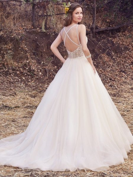Back of Janessa Marie Wedding Dress from the Maggie Sottero Cordelia 2017 Bridal Collection