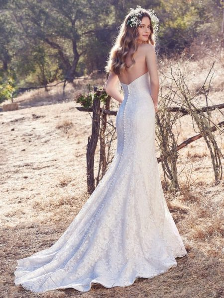 Back of Jaslynn Wedding Dress from the Maggie Sottero Cordelia 2017 Bridal Collection