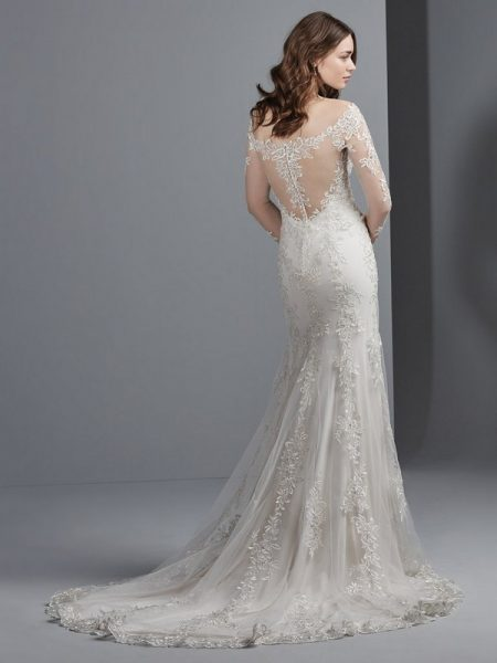 Back of Jillianna Wedding Dress from the Sottero and Midgley Grayson 2017 Bridal Collection