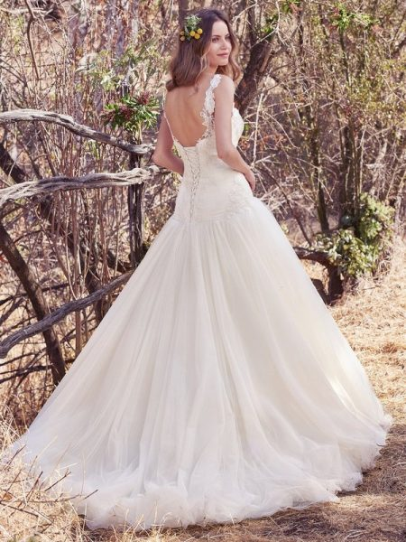 Back of Kirby Wedding Dress from the Maggie Sottero Cordelia 2017 Bridal Collection