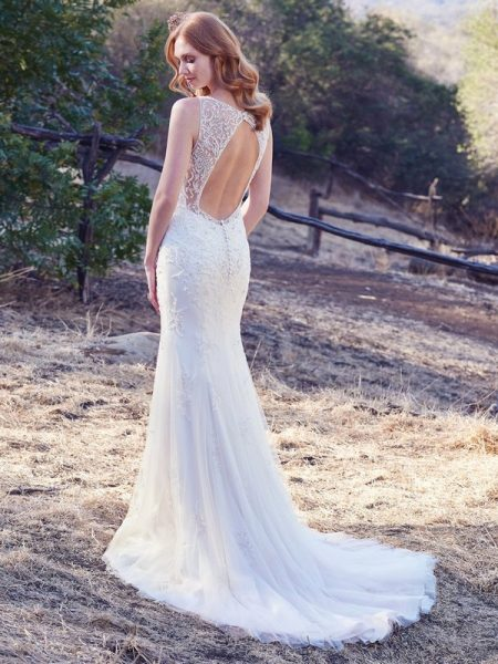 Back of Kyra Wedding Dress from the Maggie Sottero Cordelia 2017 Bridal Collection