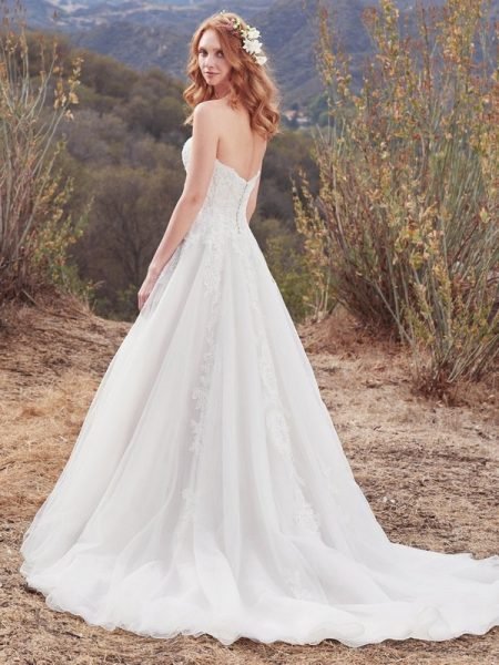 Back of Lorelai Wedding Dress from the Maggie Sottero Cordelia 2017 Bridal Collection
