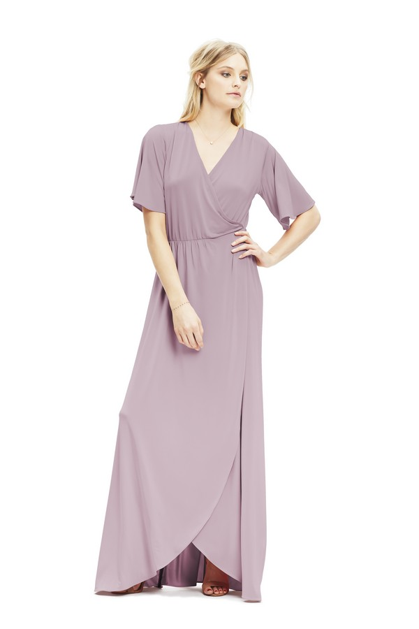 Lucy Dress in Heather from Twobirds Bridesmaid Party Collection
