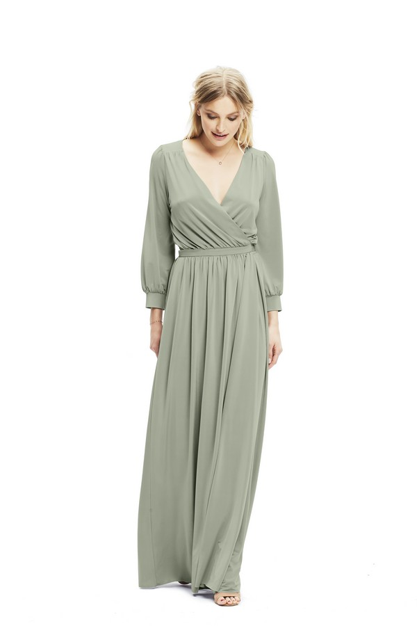 Margaux Dress in Sage from Twobirds Bridesmaid Party Collection