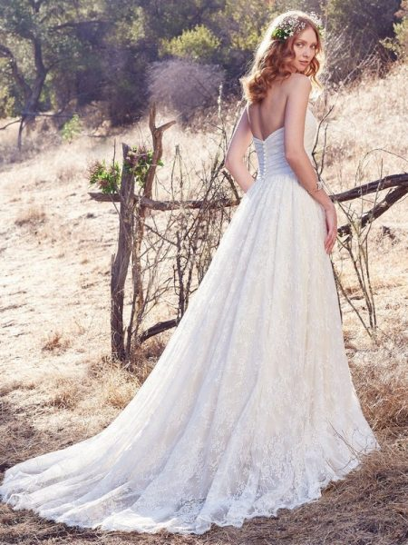 Back of Marta Wedding Dress from the Maggie Sottero Cordelia 2017 Bridal Collection