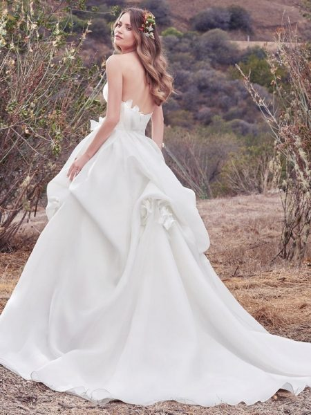Back of Meredith Wedding Dress from the Maggie Sottero Cordelia 2017 Bridal Collection