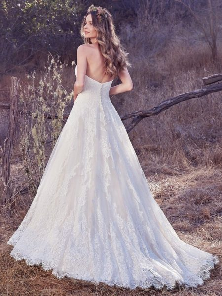 Back of Olea Wedding Dress from the Maggie Sottero Cordelia 2017 Bridal Collection
