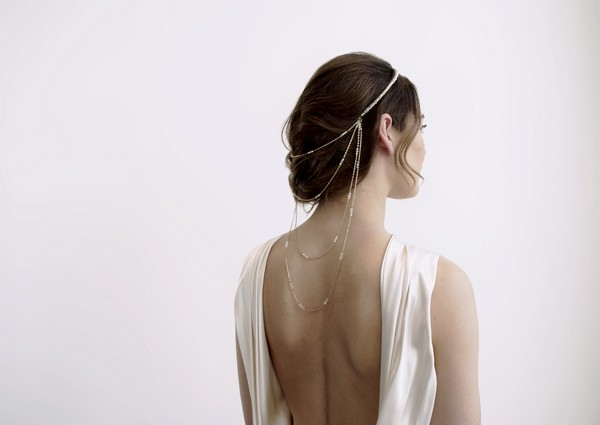 Pippa Cascade Bridal Head Chain by Gillian Million and Amanda Wakeley