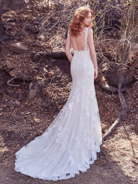 Back of Ramona Wedding Dress from the Maggie Sottero Cordelia 2017 Bridal Collection