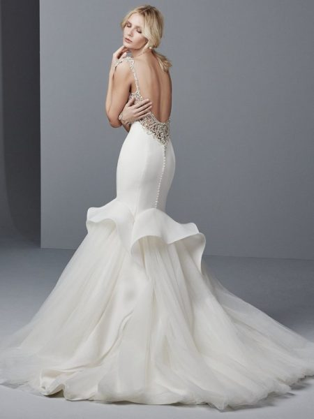 Back of Raquelle Wedding Dress from the Sottero and Midgley Grayson 2017 Bridal Collection