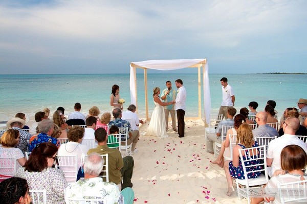 Wedding ceremony on Rose Island Bahamas