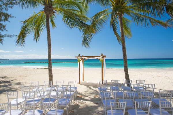 Wedding ceremony space at Sandals Emerald Bay Bahamas