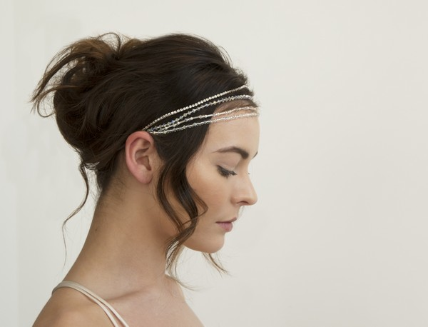 Silver Raphael Bridal Headband by Gillian Million and Amanda Wakeley