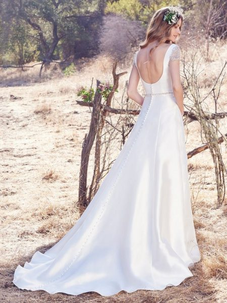 Back of Talin Wedding Dress from the Maggie Sottero Cordelia 2017 Bridal Collection