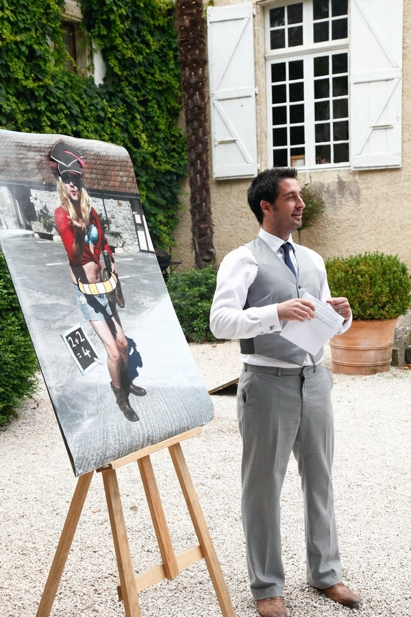 Wedding Speech with Picture on Easel
