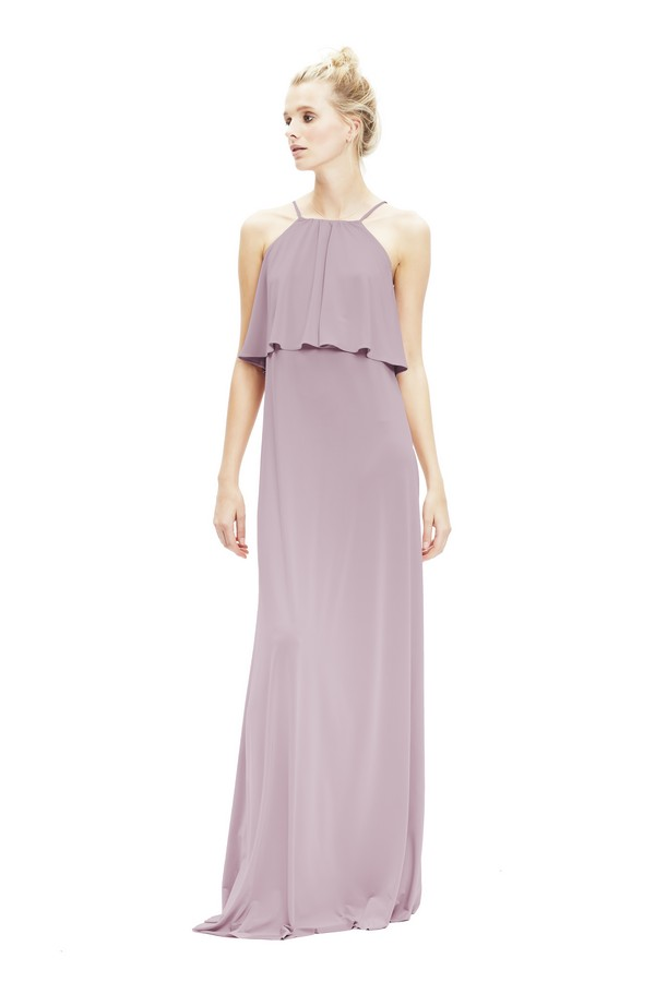 Zoe Jersey Dress in Heather from Twobirds Bridesmaid Party Collection