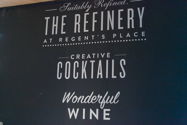 The Refinery at Regents Place sign