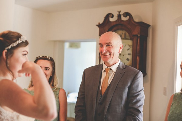 Proud father seeing daughter on her wedding day