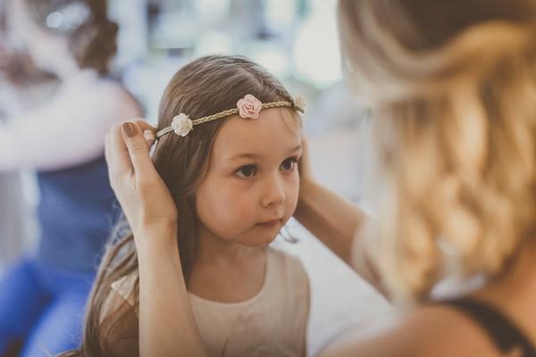Flower girl with flower headband